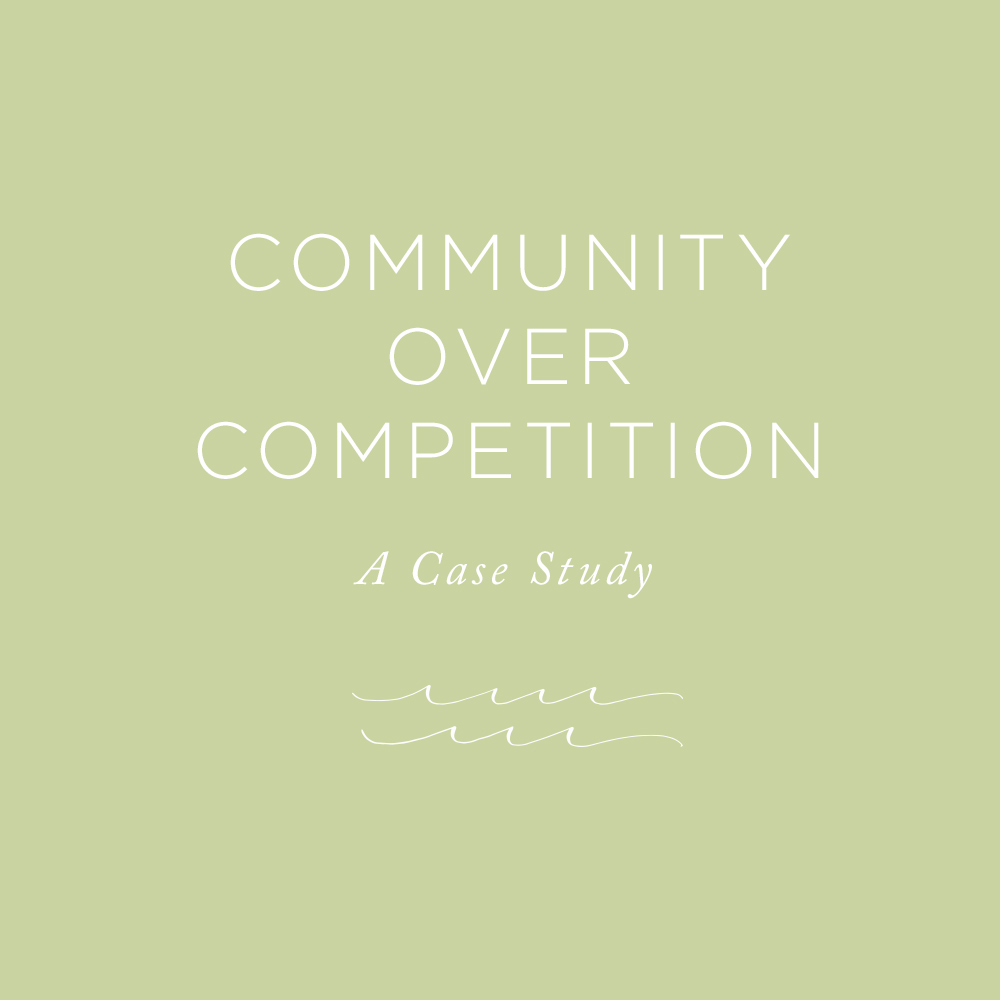 A Case Study in Community over Competition