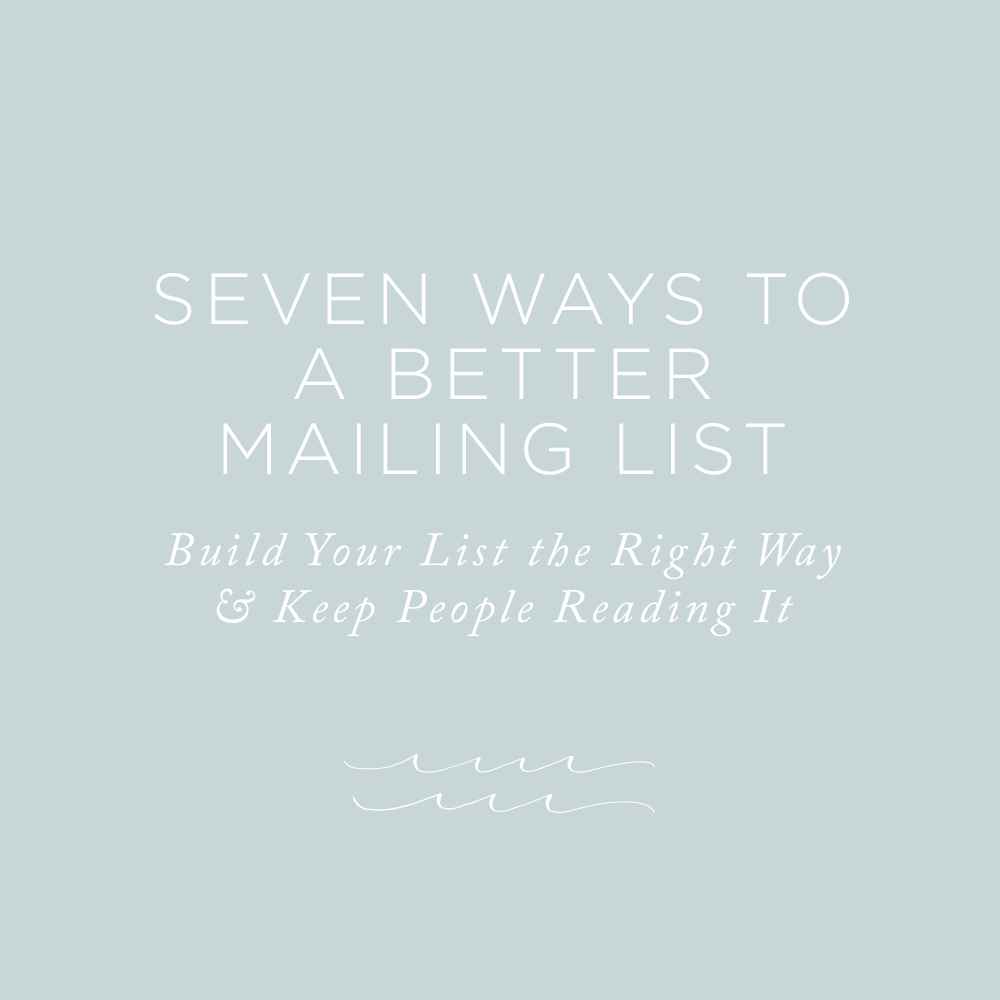 Build Your List the Right Way & Keep People Reading It | Via the Rising Tide Society