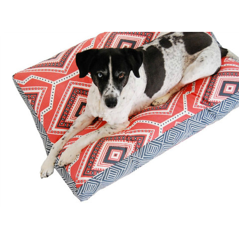 Janery_Charlie_Cushion_Waterproof_Dog_Bed_Southwest_Combo_Coral_Charcoal_Merlin_1024x750_large