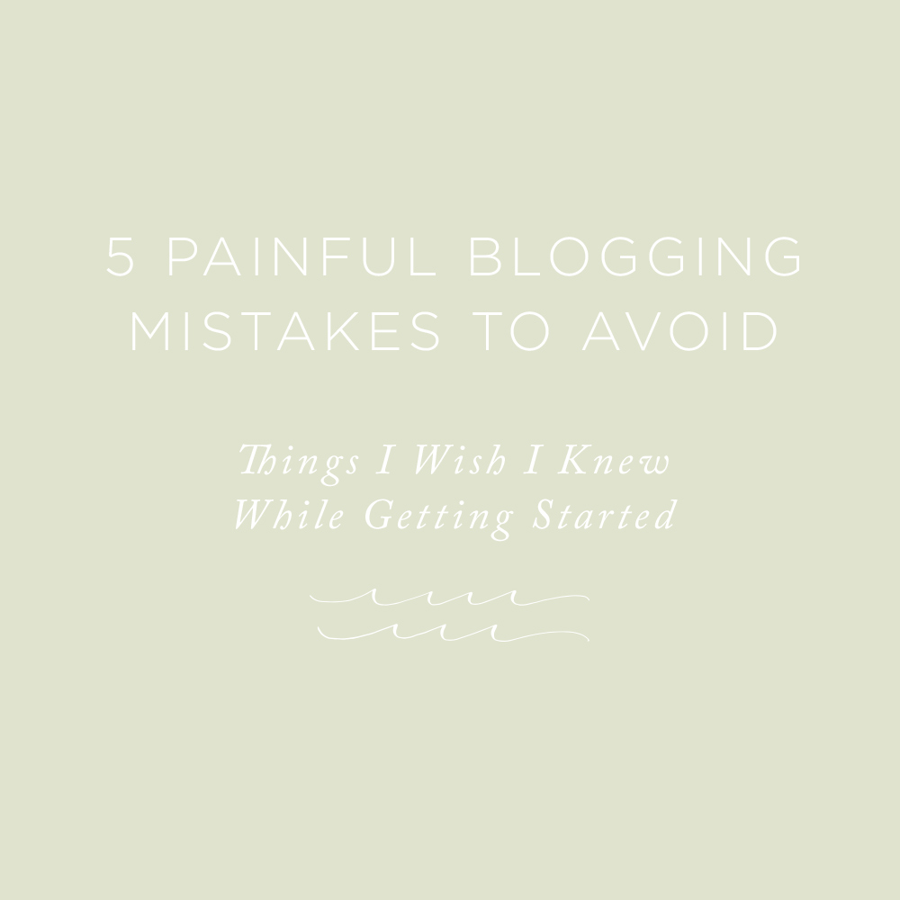 5 Blogging Mistakes to Avoid | via the Rising Tide Society