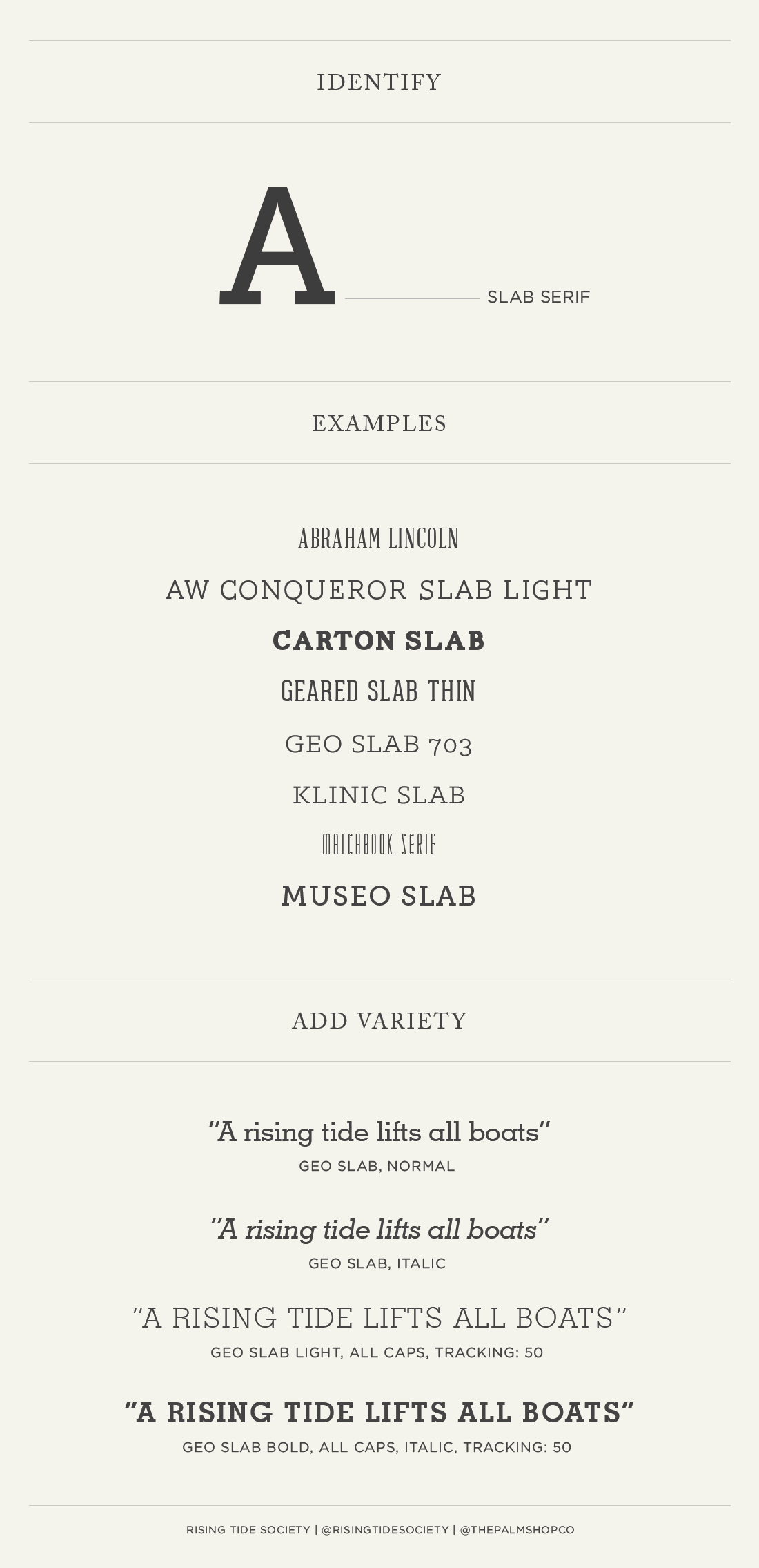 A Guide to Slab Serif Fonts | via the Rising Tide Society