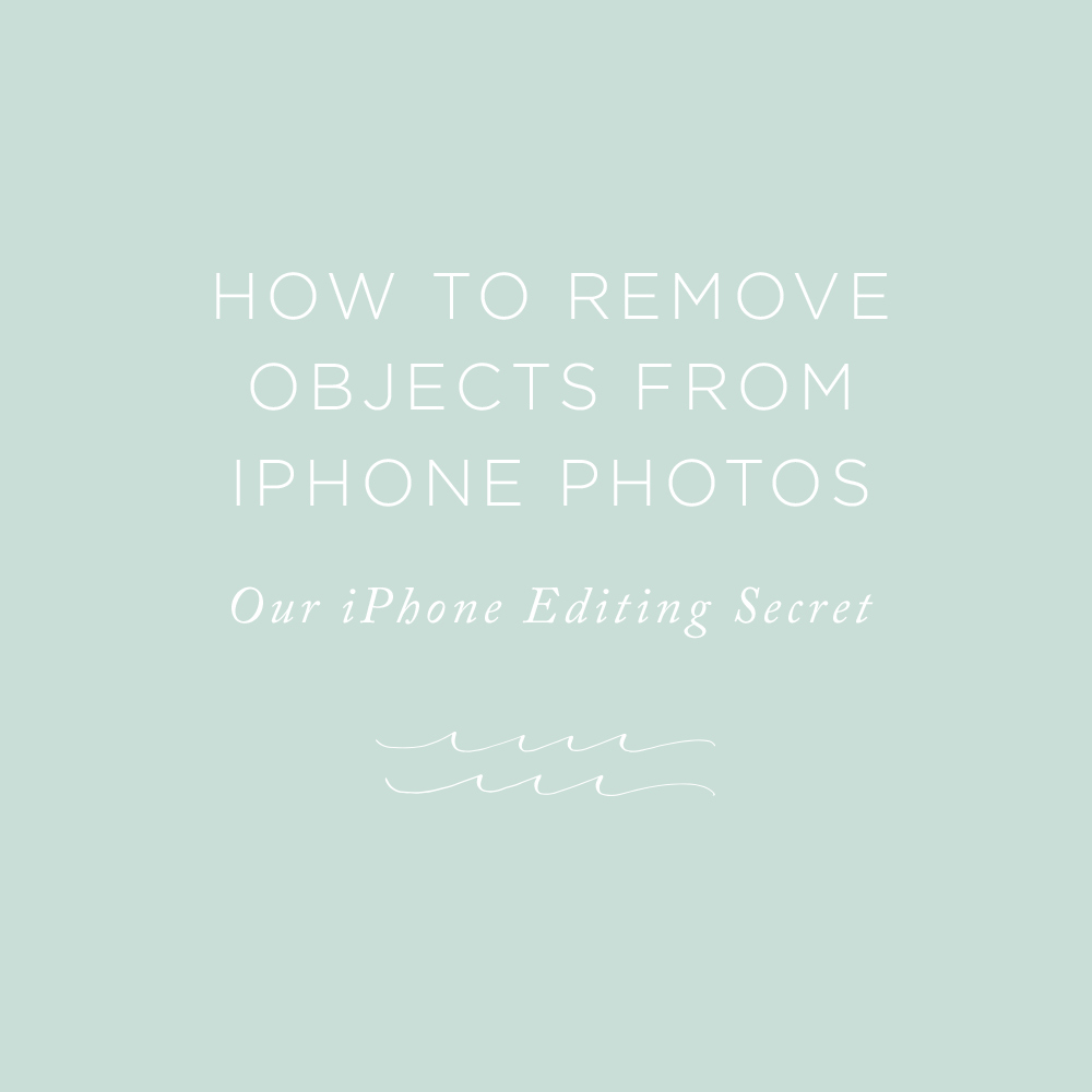 How to Remove Objects from IPhone Photos | via the Rising Tide Society