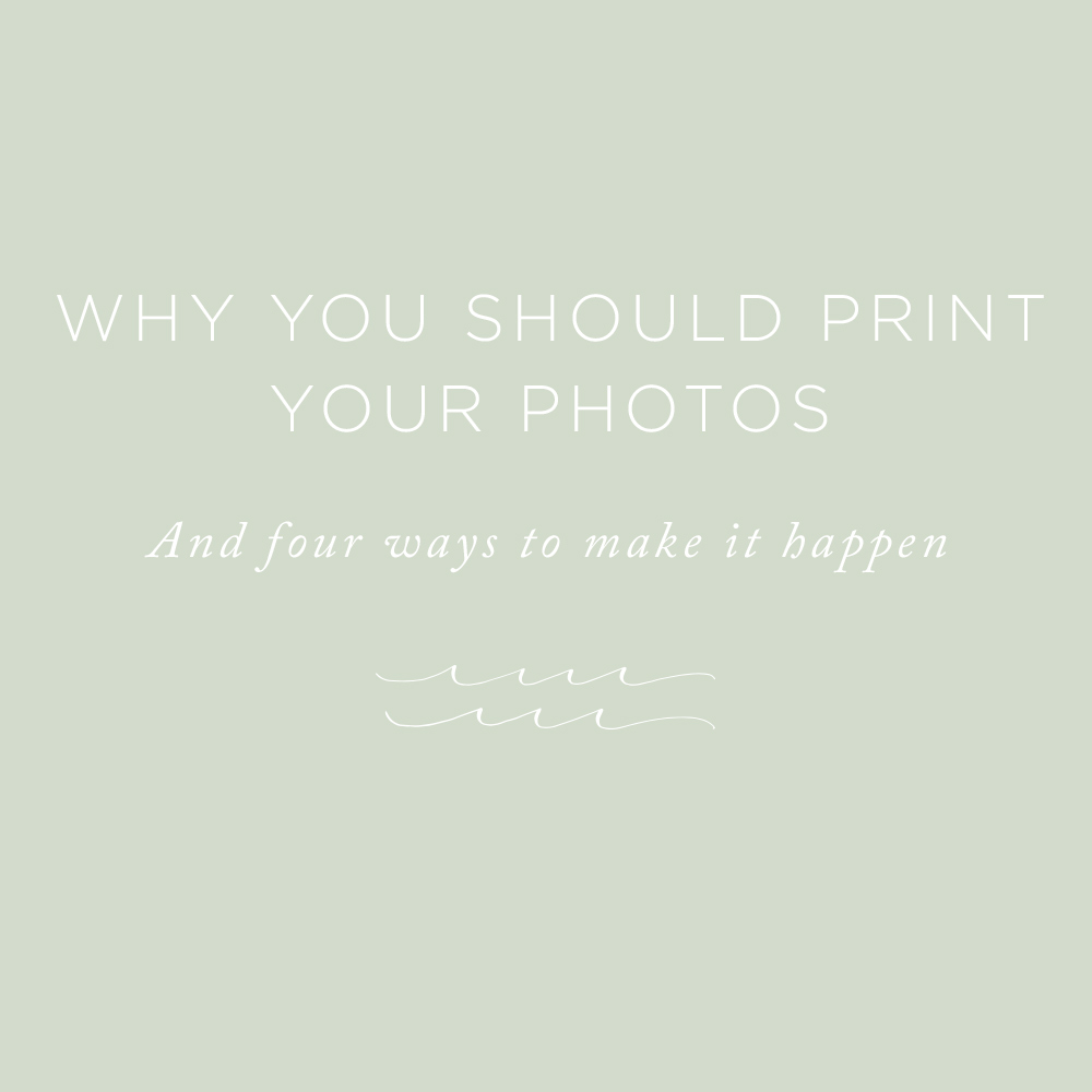 Why You Should Print Your Photos | via the Rising Tide Society