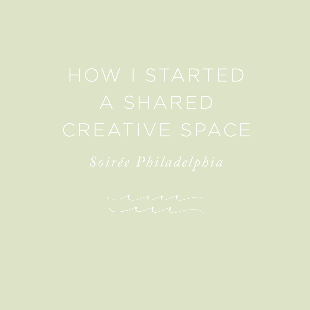 How I Started a Shared Creative Space | via the Rising Tide Society