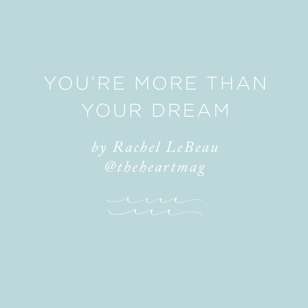 You're More Than Your Dreams   via the Rising Tide Society
