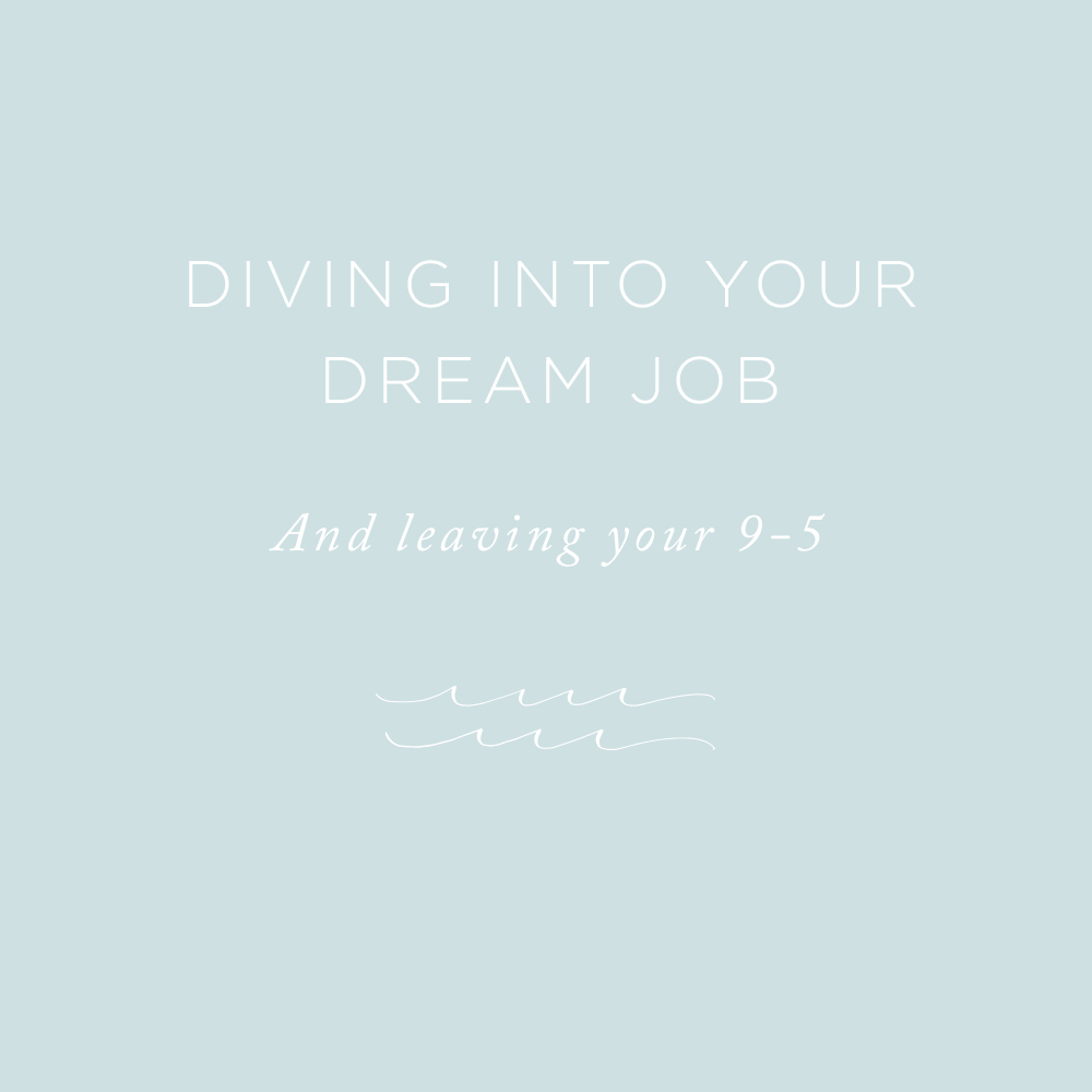 Diving Into Your Dream Job | via the Rising Tide Society