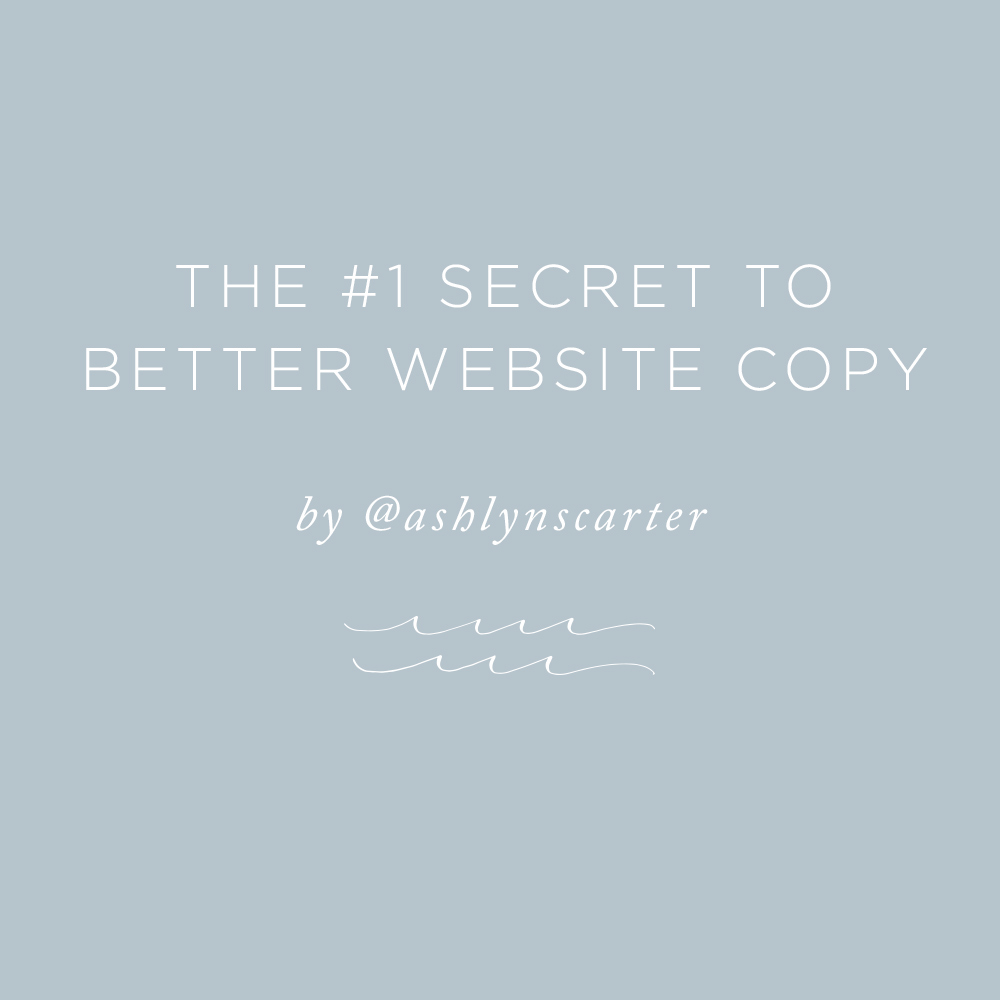 The #1 Secret to Better Website Copy | via the Rising Tide Society