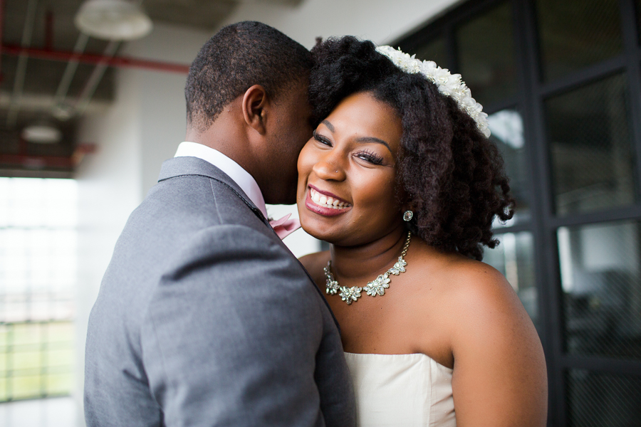 Houston Tuesdays Together (Rising Tide Society) Pantone Colors Styled Shoot, African American Bride & Groom