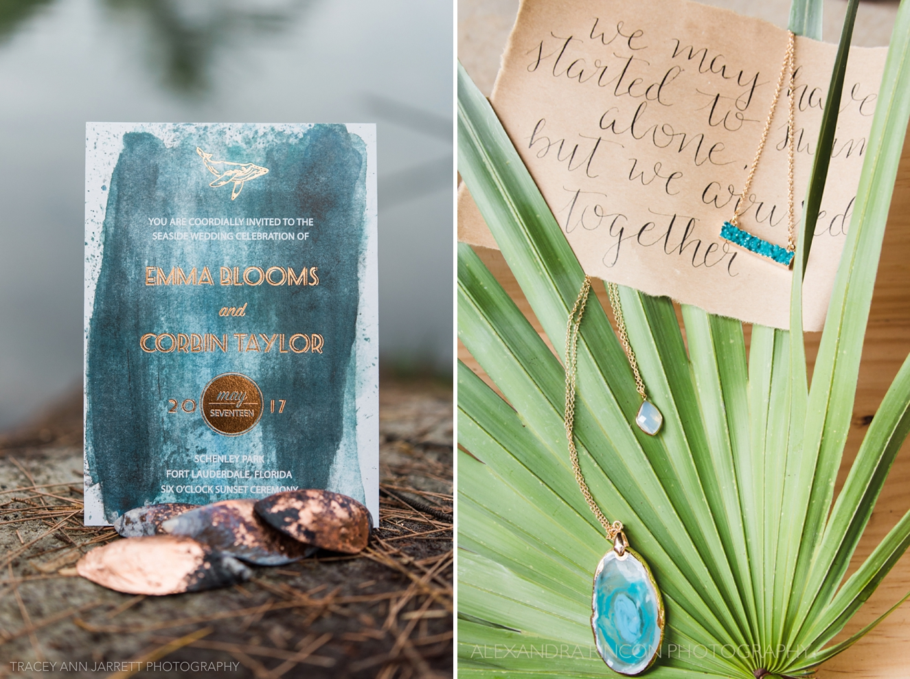 TuesdaysTogether Fort Lauderdale - ocean-inspired wedding details