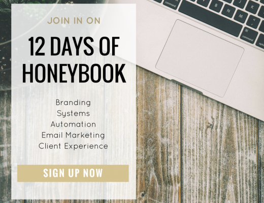 12 DAYS OF HONEYBOOK