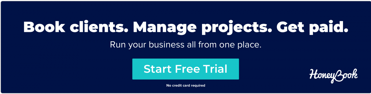 Manage your business all in one place - Start free HoneyBook trial