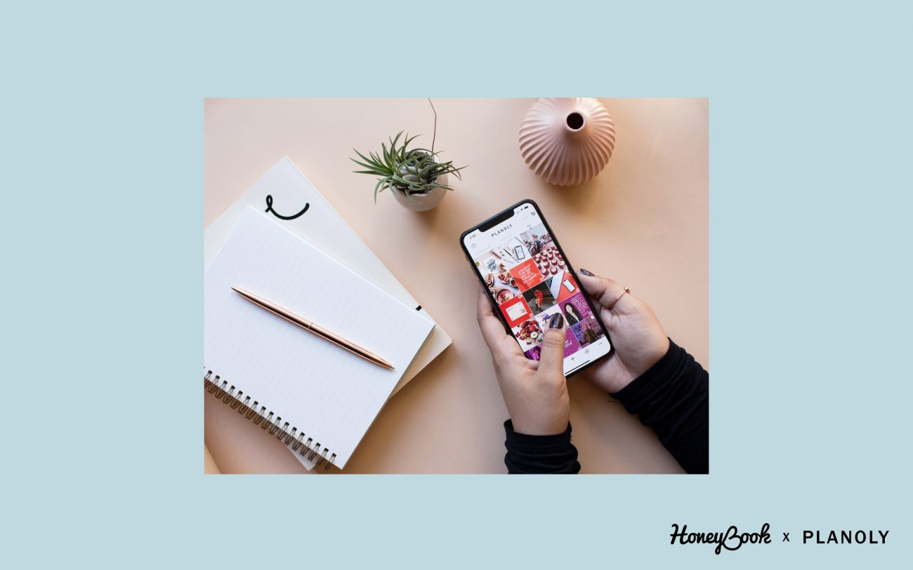 HoneyBook x Planoly - how to beat the instagram algorithm