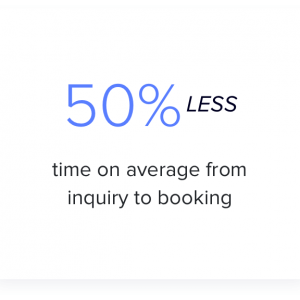 wedding venue business success story - 50% less time on average from inquiry to booking