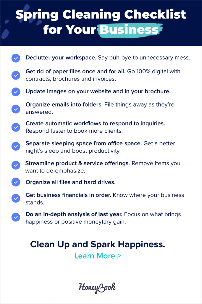 Clutter in your business can be annoying and unsightly, but it's not as harmless as you might think. 10 entrepreneurs share their spring cleaning checklist for their businesses just in time for spring.