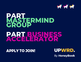 Apply for UPWRD by HoneyBook